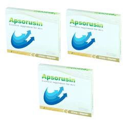 男性用 サプリメント アプソルシン3箱セット/540粒入り シトルリン アルギニン 亜鉛 男性の増大サプリメント
