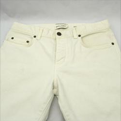 SAINT LAURENT ◆デニム ホワイト メンズ ボタンフライ SIZE:30 ブランド【メンズ/MEN/男性/ボーイズ/紳士】 【中古】