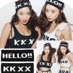 HELLO KKXX ヘアバンド ヘアアクセサリー 幅広 ダンス 衣装 小物