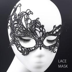レース アイマスク 仮面 マスク アクセサリー 黒 クロシェレース