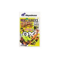 FINA ハヤブサ 誘撃カレイ 激流&深場イエローアピール3本鈎 ハリス5号-針14号