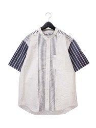 切替え台衿付きショートカラー 半袖シャツ