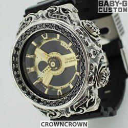 BABY-G ベビージー カスタム レディース 腕時計 レディース時計 BA110 BA110-LP7A おしゃれ  芸能人 愛用 人気 ブランド カスタムベゼル CROWNCROWN BA110-002