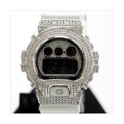 G-SHOCK ジーショック カスタム メンズ 腕時計 DW-6900 DW6900-NB7 カスタムベゼル ダイヤモンド ホワイトゴールド CROWNCROWN DW6900-016