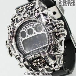 G-SHOCK ジーショック カスタム メンズ 腕時計 DW-6900 DW6900-NB1 カスタムベゼル おしゃれ 芸能人 十字架 クロス メンズ ファッション CROWNCROWN DW6900-020