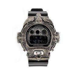 G-SHOCK ジーショック カスタム メンズ 腕時計 DW-6900 DW6900-NB1 カスタムベゼル おしゃれ FTIsland ホンギ 愛用 CROWNCROWN DW6900-029
