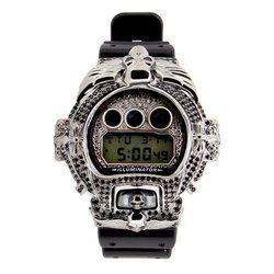 G-SHOCK ジーショック カスタム メンズ 腕時計 DW-6900 DW6900-NB1 カスタムベゼル おしゃれ 芸能人 スカル ドクロ メンズ ファッション CROWNCROWN DW6900-034