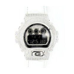 G-SHOCK ジーショック カスタム メンズ 腕時計 DW-6900 DW6900-NB-7 カスタムベゼル おしゃれ シルバー 人気 メンズ ファッション CROWNCROWN DW6900-041