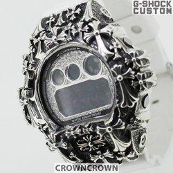 G-SHOCK ジーショック カスタム メンズ 腕時計 DW-6900 DW6900-NB-7 カスタムベゼル おしゃれ リッチ 十字架 クロス メンズ ファッション CROWNCROWN DW6900-045