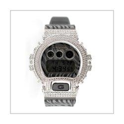 G-SHOCK ジーショック カスタム メンズ 腕時計 DW-6900 DW6900-ZB-8 カスタムベゼル おしゃれ シルバー 人気 メンズ ファッション CROWNCROWN DW6900-068