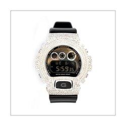 G-SHOCK ジーショック カスタム メンズ 腕時計 DW-6900 DW6900-NB-1 カスタムベゼル ダイヤモンド ホワイトゴールド CROWNCROWN DW6900-076