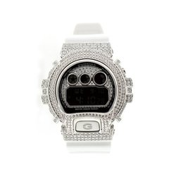 G-SHOCK ジーショック カスタム メンズ 腕時計 DW-6900 DW6900-NB-7 カスタムベゼル おしゃれ シルバー 人気 メンズ ファッション CROWNCROWN DW6900-077
