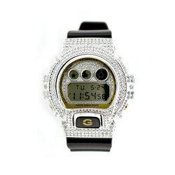 G-SHOCK ジーショック カスタム メンズ 腕時計 DW-6900 DW6900-BR-5 カスタムベゼル おしゃれ シルバー 人気 メンズ ファッション CROWNCROWN DW6900-085