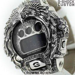 G-SHOCK ジーショック カスタム メンズ 腕時計 DW-6900 DW6900-NB1 カスタムベゼル おしゃれ CROWNCROWN DW6900-100