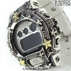 G-SHOCK ジーショック カスタム メンズ 腕時計 DW-6900 DW6900-NB1 カスタムベゼル おしゃれ CROWNCROWN DW6900-104