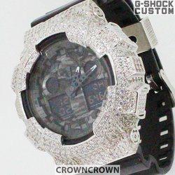G-SHOCK ジーショック カスタム メンズ 腕時計 GA-100 GA100-1A1 カスタムベゼル おしゃれ 芸能人 スカル ドクロ メンズ ファッション CROWNCROWNGA100-006