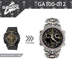 G-SHOCK ジーショック カスタム メンズ 腕時計 GA-100 GA100-CF1A カスタムベゼル おしゃれ 芸能人 人気 メンズ カモフラージュ CROWNCROWN GA100-012