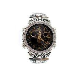 G-SHOCK ジーショック カスタム メンズ 腕時計 GA-100 GA100-CF1A カスタムベゼル おしゃれ 芸能人 人気 メンズ カモフラージュ CROWNCROWN GA100-013