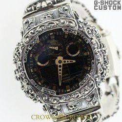 G-SHOCK ジーショック カスタム メンズ 腕時計 GA-100 GA100-CF1A カスタムベゼル おしゃれ 芸能人 人気 メンズ ファッション CROWNCROWN GA100-025