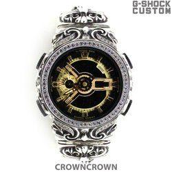 G-SHOCK ジーショック カスタム メンズ 腕時計 GA-110 GA110 GB-1 カスタムベゼル おしゃれ 芸能人 十字架 クロス メンズ ファッション CROWNCROWN GA110-008