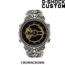 G-SHOCK ジーショック カスタム メンズ 腕時計 GA-110 GA110 GB-1 カスタムベゼル おしゃれ 芸能人 十字架 クロス メンズ ファッション CROWNCROWN GA110-015
