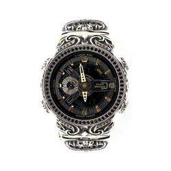 G-SHOCK ジーショック カスタム メンズ 腕時計 GA-110 GA110 GD-9B カスタムベゼル おしゃれ 芸能人 十字架 クロス メンズ ファッション CROWNCROWN GA110-045