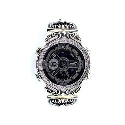 G-SHOCK ジーショック カスタム メンズ 腕時計 GA-110 GA110 GW-7A カスタムベゼル おしゃれ 芸能人 十字架 クロス メンズ ファッション CROWNCROWN GA110-054