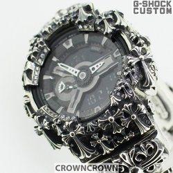 G-SHOCK ジーショック カスタム メンズ 腕時計 GA-110 GA110 GW-7A カスタムベゼル おしゃれ 芸能人 十字架 クロス メンズ ファッション CROWNCROWN GA110-063