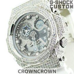 G-SHOCK ジーショック カスタム メンズ 腕時計 GA-300 GA300-7A カスタムベゼル おしゃれ 芸能人 ブランド 人気 メンズ ファッション CROWNCROWN GA300-008