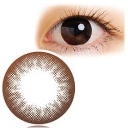クオーレ Natura ブラウンブラック(2枚入り・1ヶ月) 「度なし -0.00」 カラコン カラーコンタクト