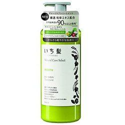 いち髪 ナチュラルケアセレクト スムーストリートメント ポンプ 480g ハーバルグリーンの香り