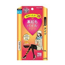 女の欲望 裏起毛パイルタイツ 220デニール ブラック M-Lサイズ トレイン