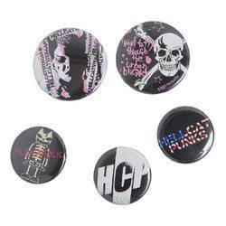 HCP 缶バッジセット【HELLCATPUNKS】 ブラック ホワイト フリーサイズ レディース ユニセックス(HCP-365)