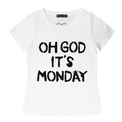O.G.I.M タイトTシャツ【HELLCATPUNKS】 ホワイト Sサイズ 半袖 サスペンダー レディース (HCP-C396-01)