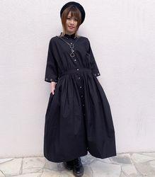 ハーネスシャツワンピース【HELLCATPUNKS】 ブラック フリーサイズ  レディース(HCP-OP-0078)