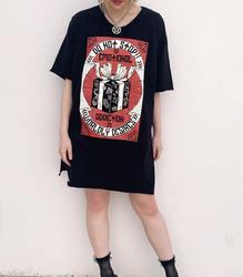 EMOTIONAL ADDICTION ビッグTシャツ【HELLCATPUNKS】 ブラック Fサイズ レディース(HCP-T-0081)