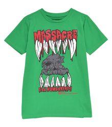 MASSACRE Tシャツ【KREEPSVILLE 666】 グリーン Sサイズ レディース ユニセックス(KA015-01)
