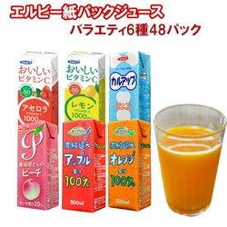 毎日おいしく飲む!エルビーソフトドリンク6種48本セット (紙パック ジュース)