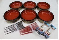 お寿司セット 桶6個・箸12膳・握り寿司型2個