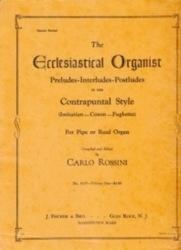 書籍 The Liturgical organist Vol IV Carlo Rossini ササヤ書店