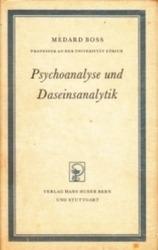 書籍 Psychoanalyse und Daseinsanalytik Medard Boss Verlag hans huber bern und stuttgart