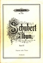 書籍 Schubert Album Band II Edition peters No 178 Sopran oder Tenor