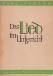 書籍 Das Lieo im Unterricht Edition Schott