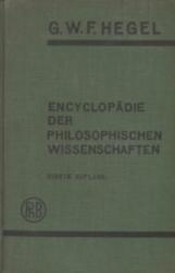 書籍 Encyclopadie der philosophischen wissenschaften Hegel Vierte auflage