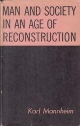 書籍 Man and society in an age of reconstruction Karl Mannheim Harcourt Brace