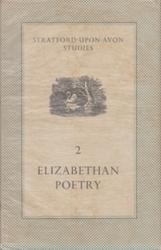 書籍 Stratford upon avon studies 2 Elizabethan Poetry Arnold