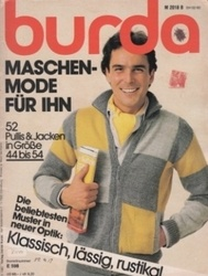 洋雑誌 burda Maschen-Mode Fur Ihn 52 Pullis&Jacken