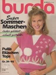 洋雑誌 burda Super Sommer-Maschen Pullis Bluschen Tops