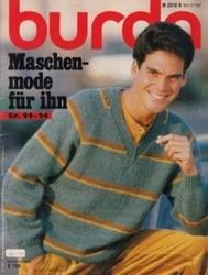 洋雑誌 burda Maschen-mode fur ihn Gr 44-54