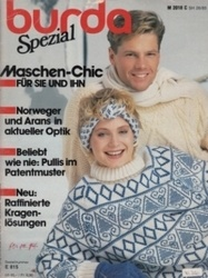 洋雑誌 burda Spezial Maschen-Chic fur sie und ihn Norweger und arans in aktueller optik